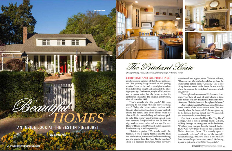 Pinehurst Magazine Beautiful Homes